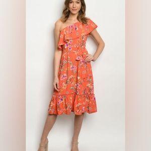 SPRINGTIME DRESS FLIRTY FLORAL FUN NWT!